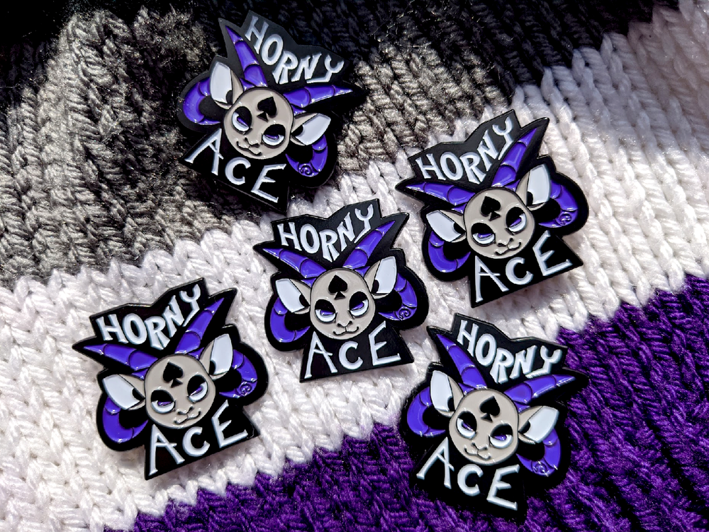 Image of HORNY ACE PIN