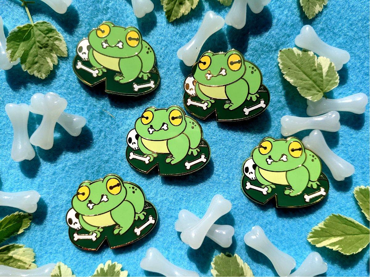 Image of Bone Frog Pin