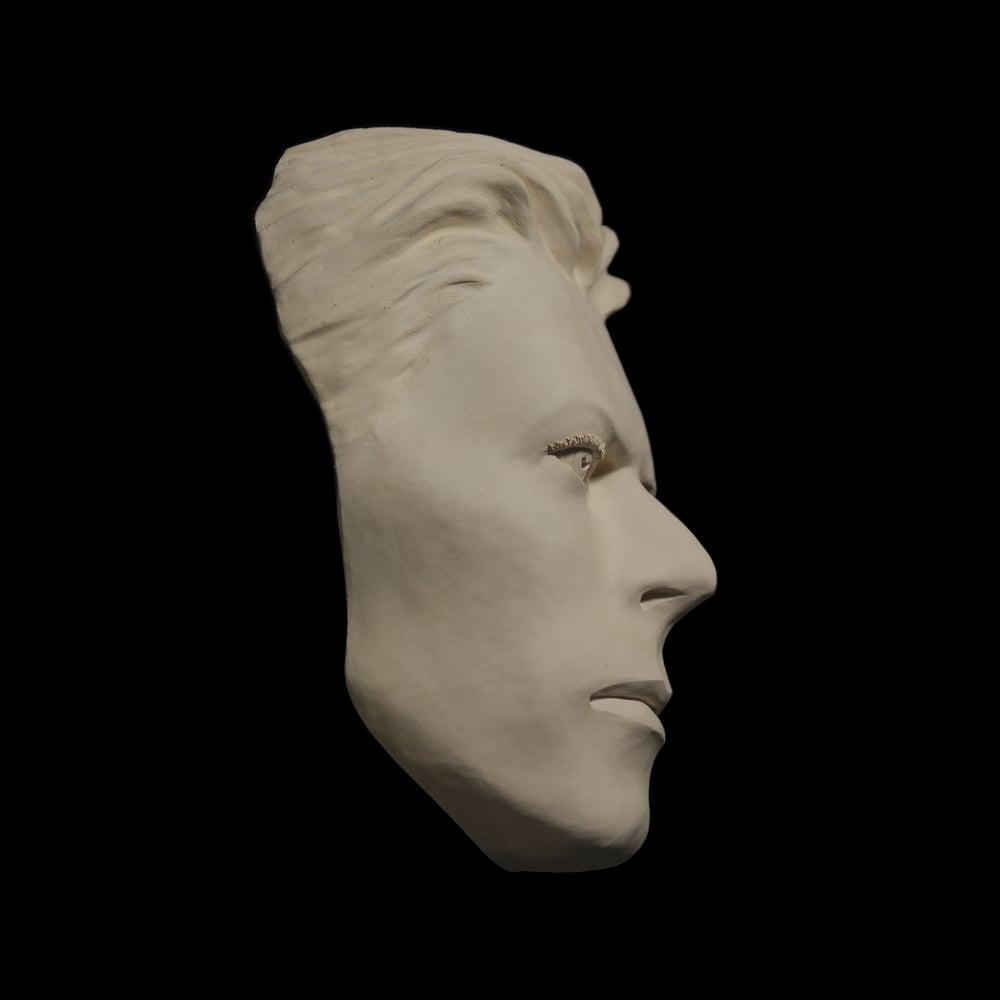 'The Thin White Duke' White Clay Face Sculpture