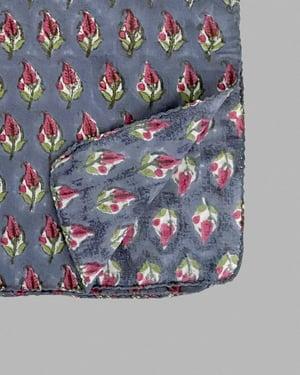 Image of Block Print Bandana - Grey Ginger