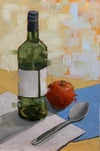 Bottle and Apple