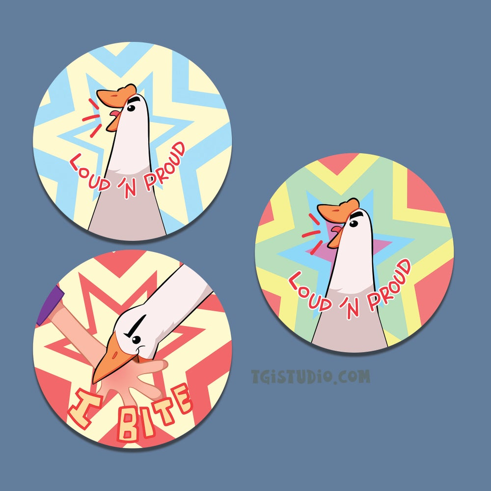 """GEESE! 2.25"""" Buttons"""