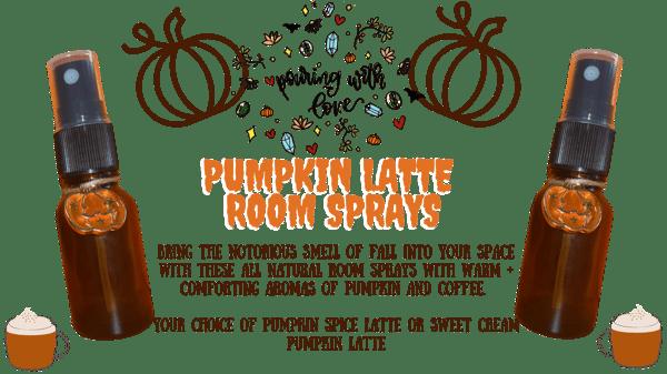 Image of pumpkin latte room sprays (pumpkin spice latte or sweet cream pumpkin latte)