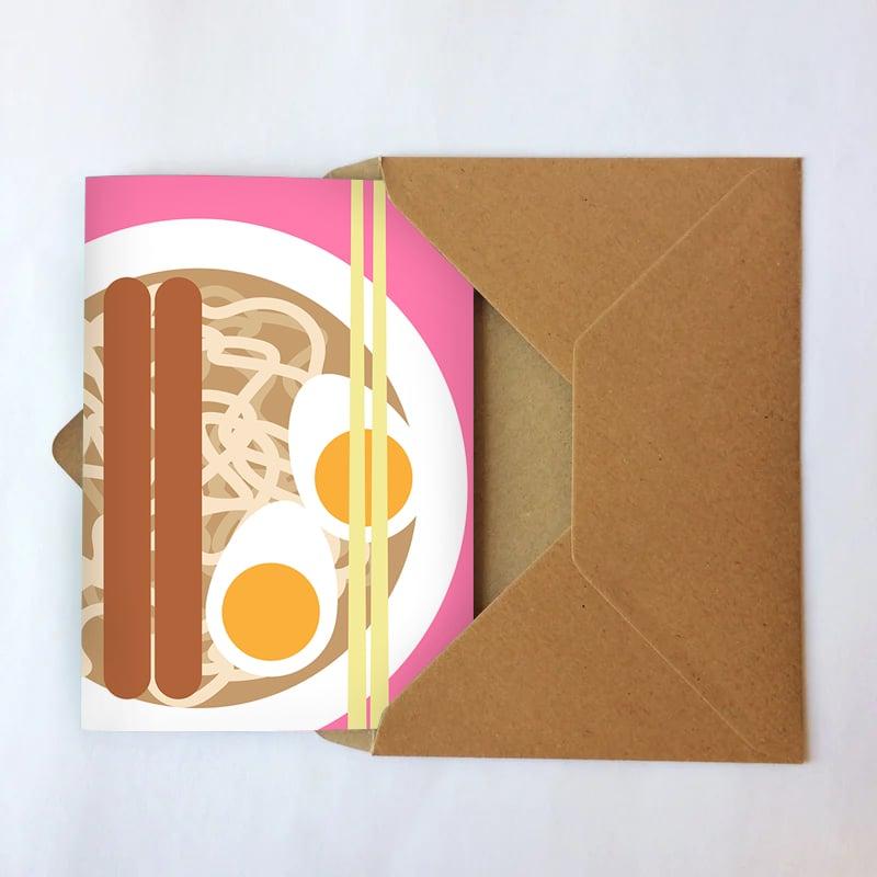Udon noodles card