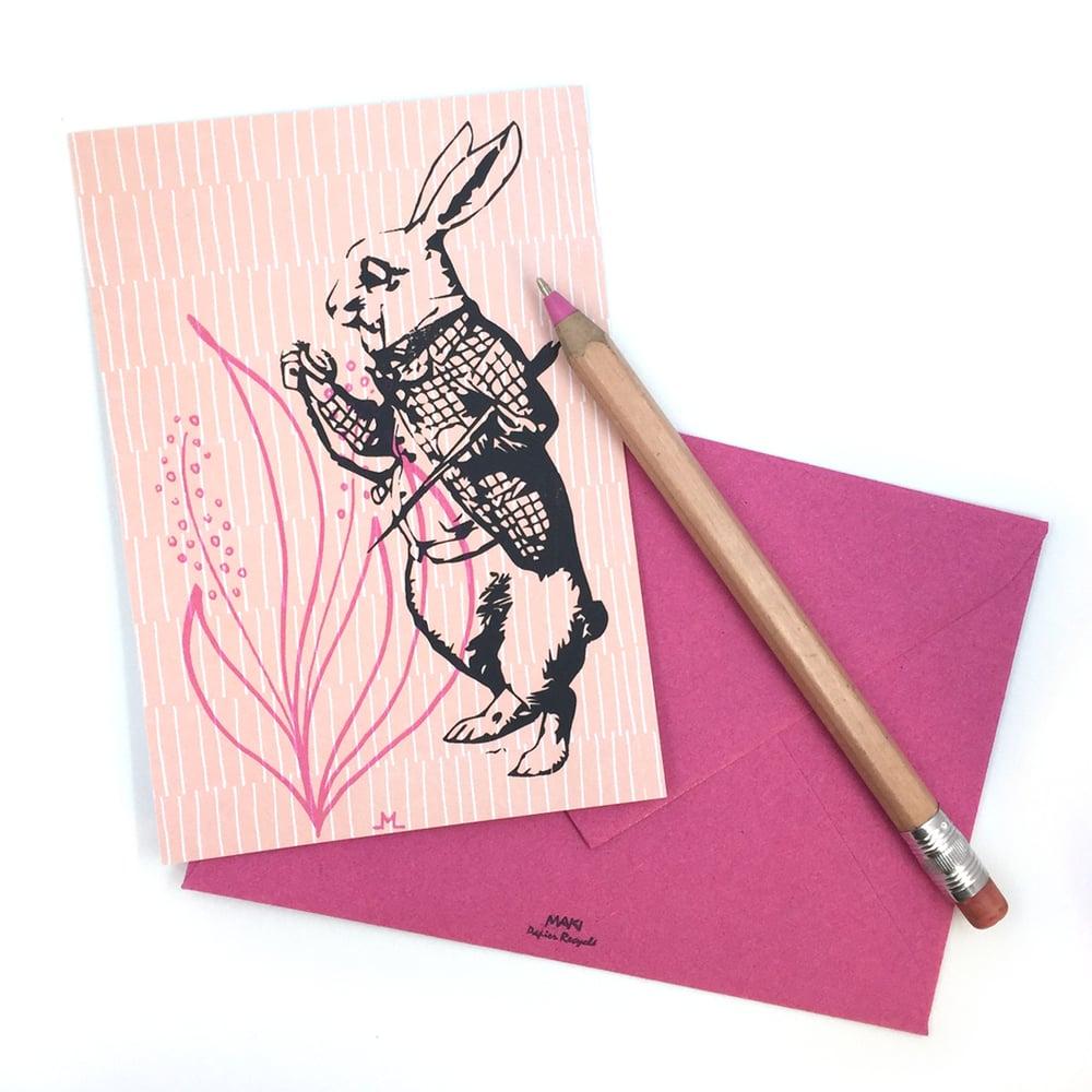 Image of Carte de voeux - Le lapin gris