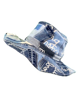 Upcycled patchwork hat