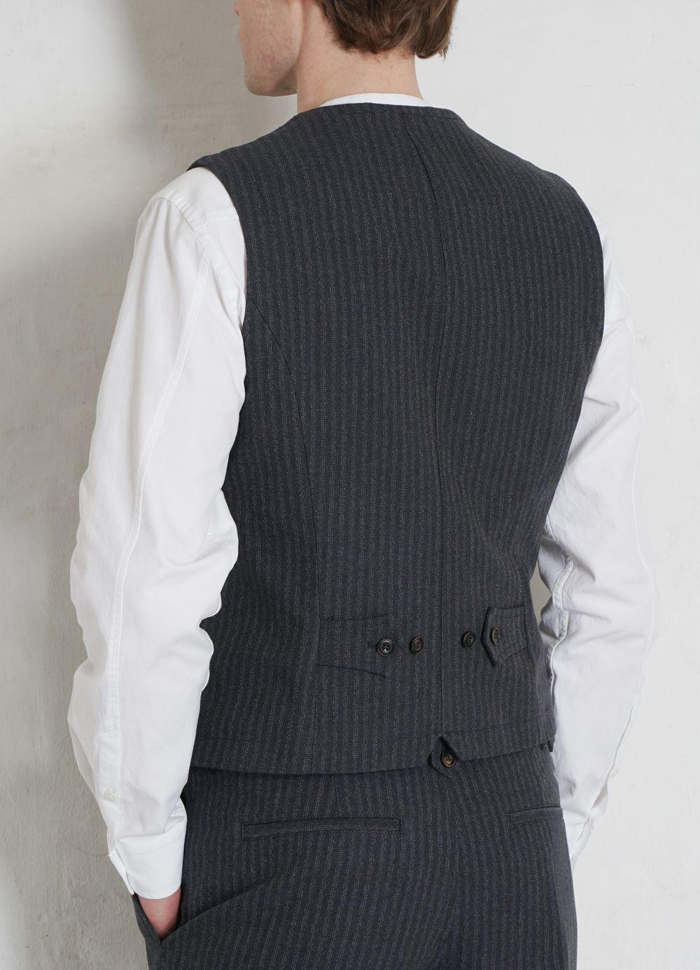 Hansen Garments WILLIAM   Lapel Waistcoat   grey pin