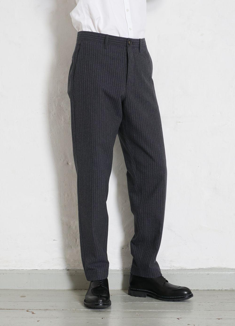 Hansen Garments KIAN   Cinch Back Wide Trousers   grey pin