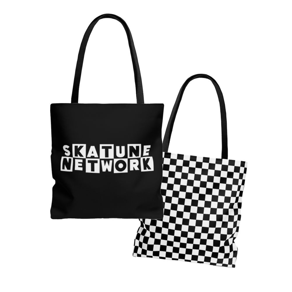 Image of CLASSIC LOGO   Double Sided Print Checker Tote Bag