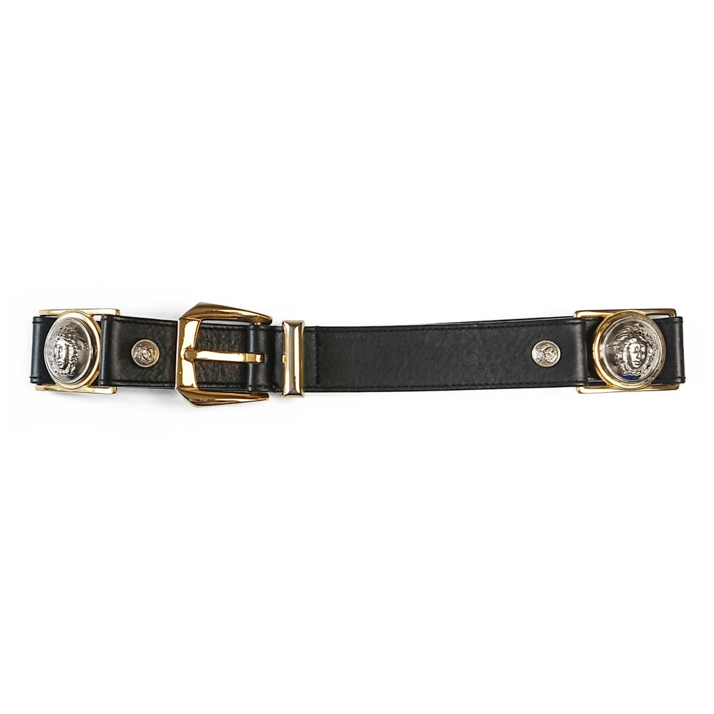 Image of Gianni Versace 1992 Medusa Leather Belt