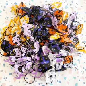 Image of Halloween Fabric Hairbows