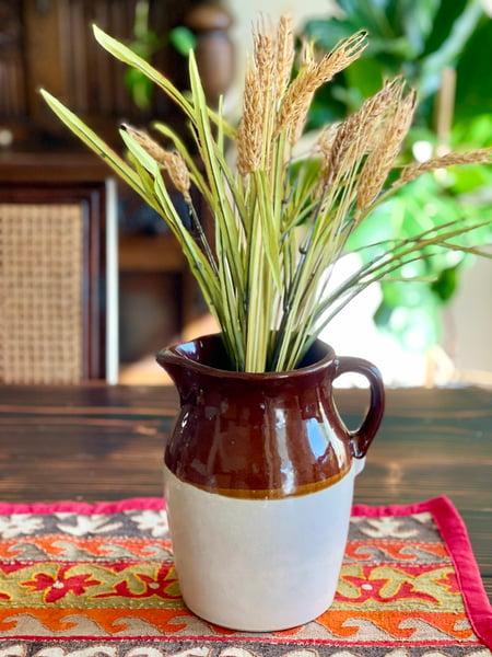 Image of Vintage ceramic pitcher brown