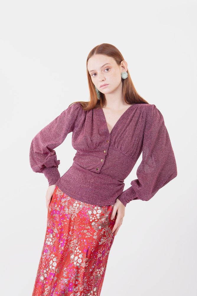 Image of MAGLIA MILLY LUREX ROSA SCURO