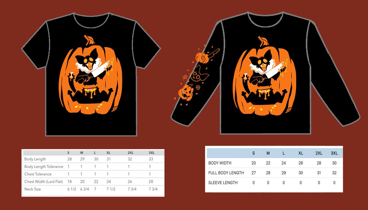 Image of Pumpkin Cat Tshirt AND Sweatshirt PREORDER