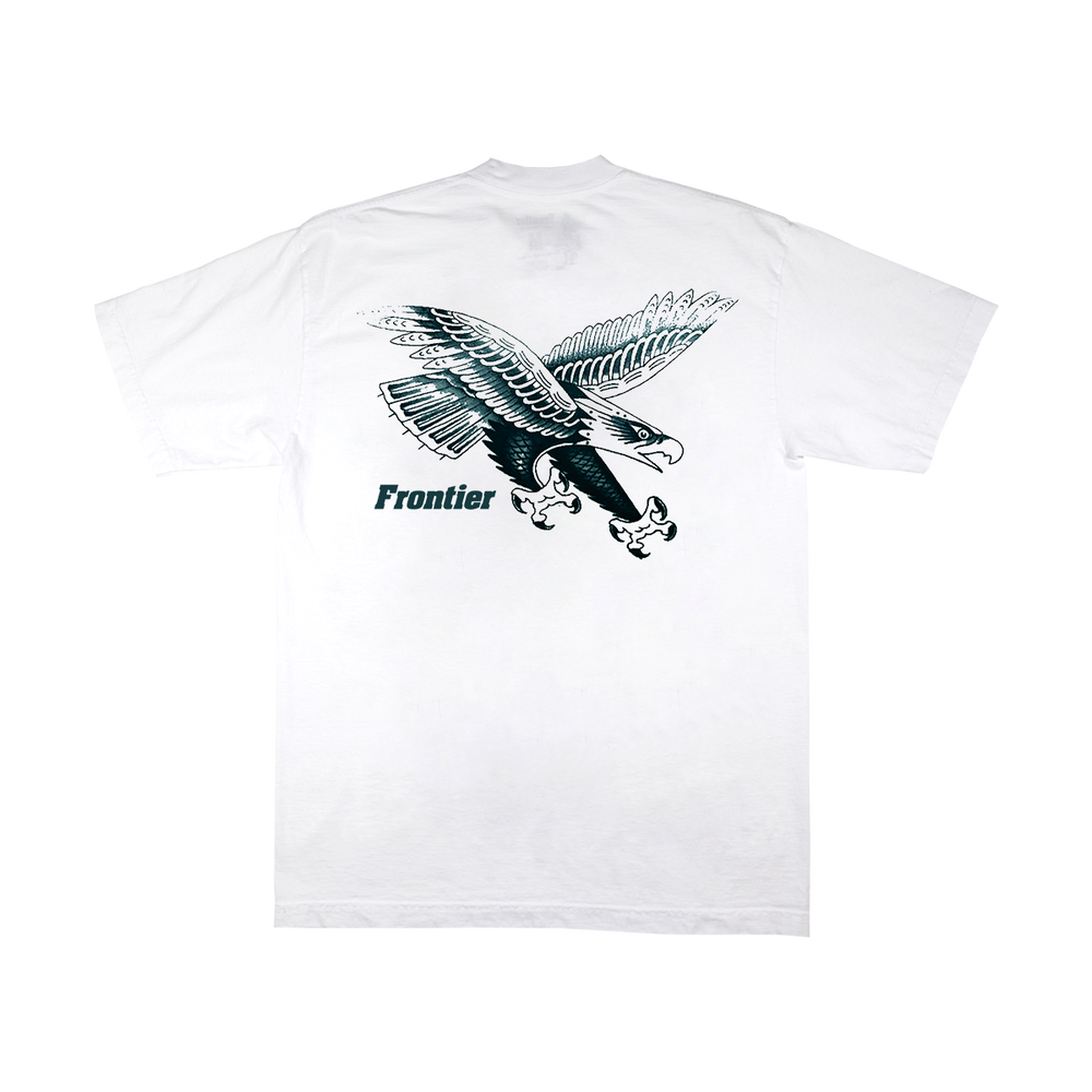 Image of Distorted Flame T-Shirt White