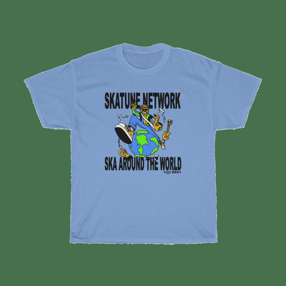 Image of SKA AROUND THE WORLD by HoneyTV | Blue T-Shirts