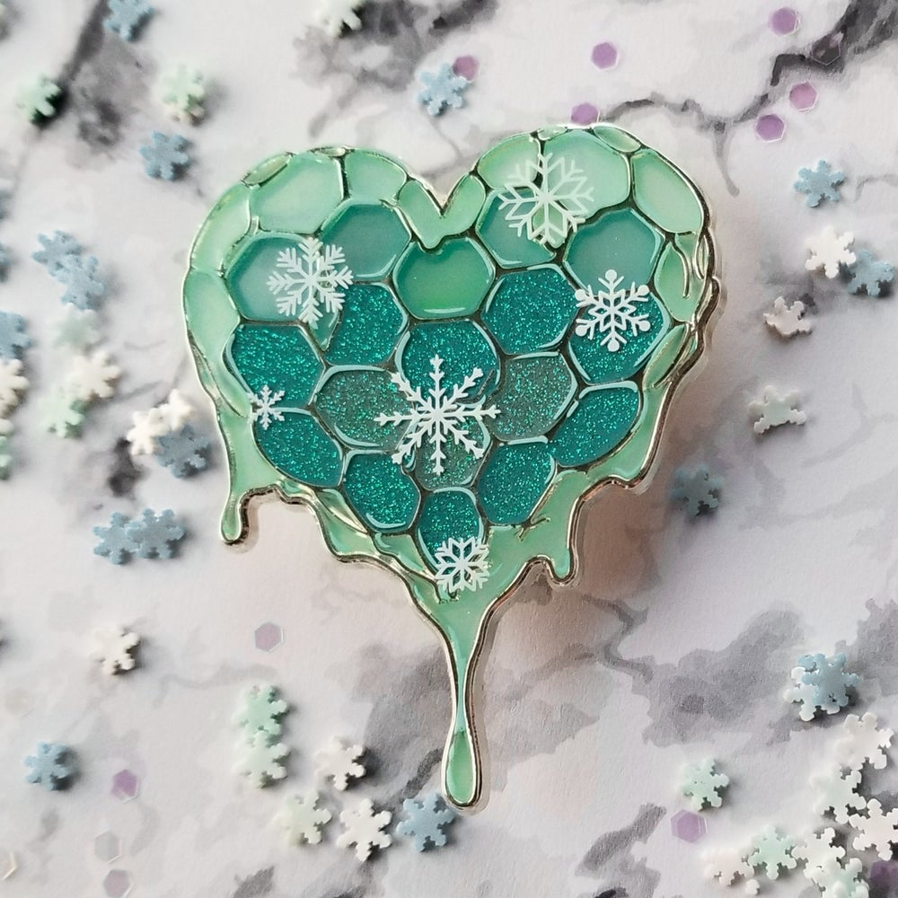 Image of Heart of Liquid Gold: Snowflake Variant