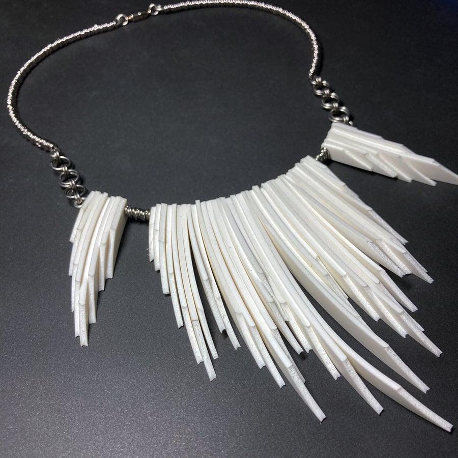 Image of SPIRIT - White Statement Necklace