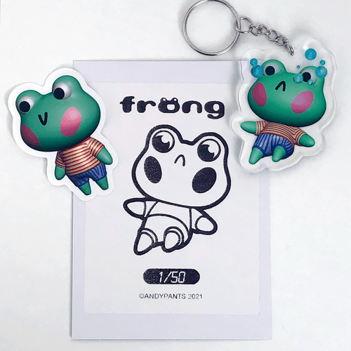 Image of Crying Frong Keychain