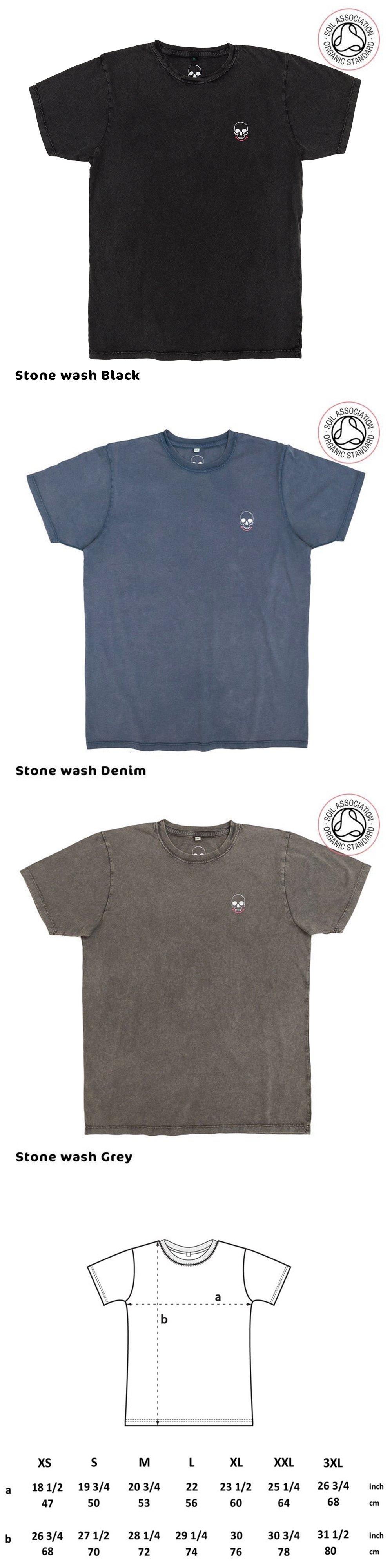 Luxury Unisex Smiley Skull pocket T-Shirts (Organic)