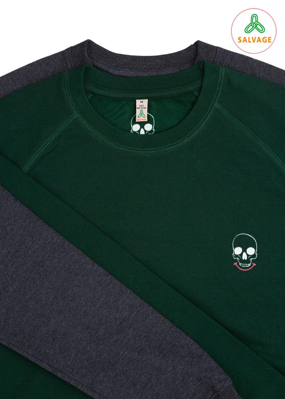 Unisex Smiley Skull pocket Sweatshirt (Recycled)