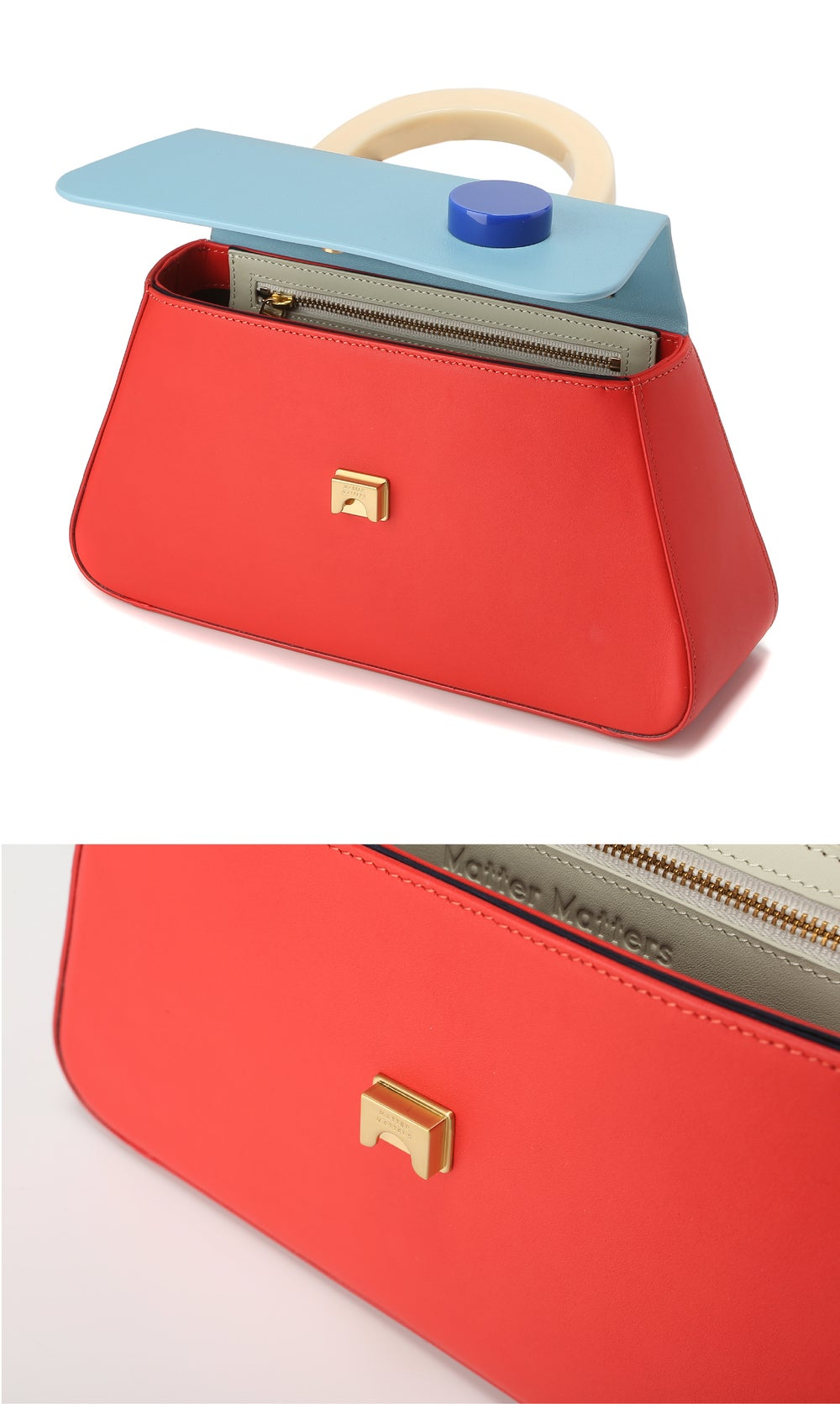 Alice Flap Bag • RED with strap
