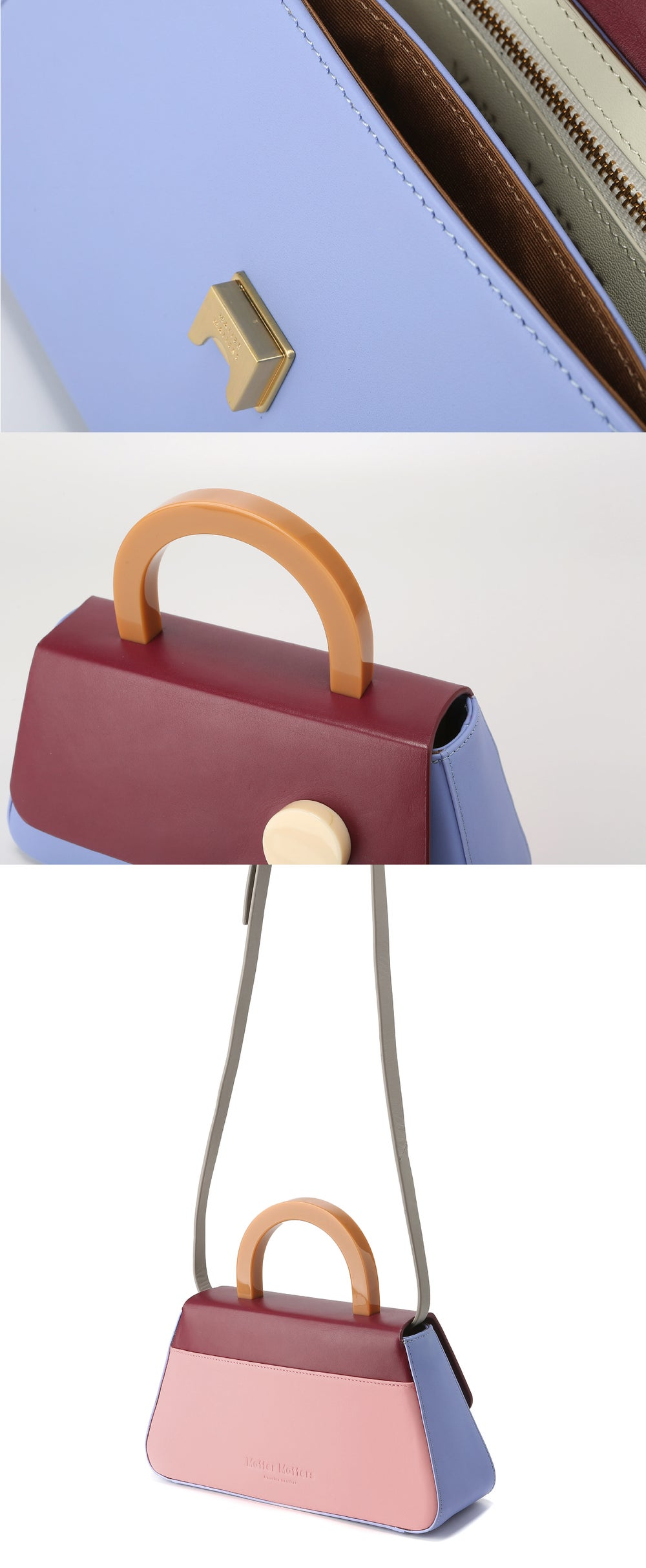 Alice Flap Bag • BURGUNDY with strap