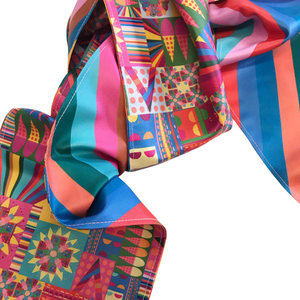 Image of City Bloom Pink Scarf
