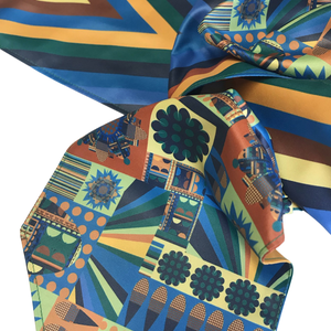 Image of City Bloom Blue Scarf
