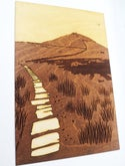 Shutlingsloe - Engraved wooden picture