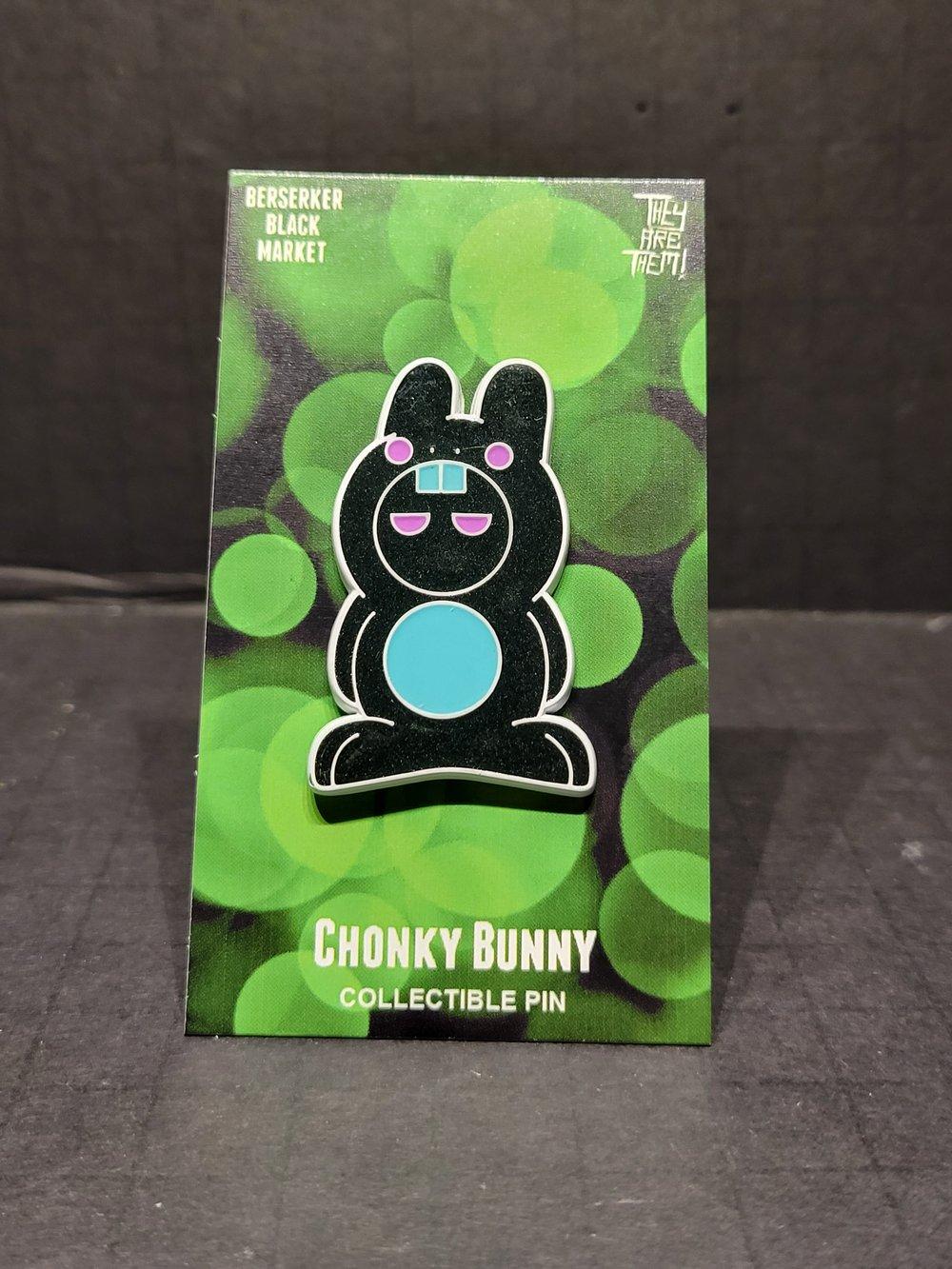 """""""Chonky Bunny"""" (Nemesis)(LE21) 1.75"""" Enamel Pin"""