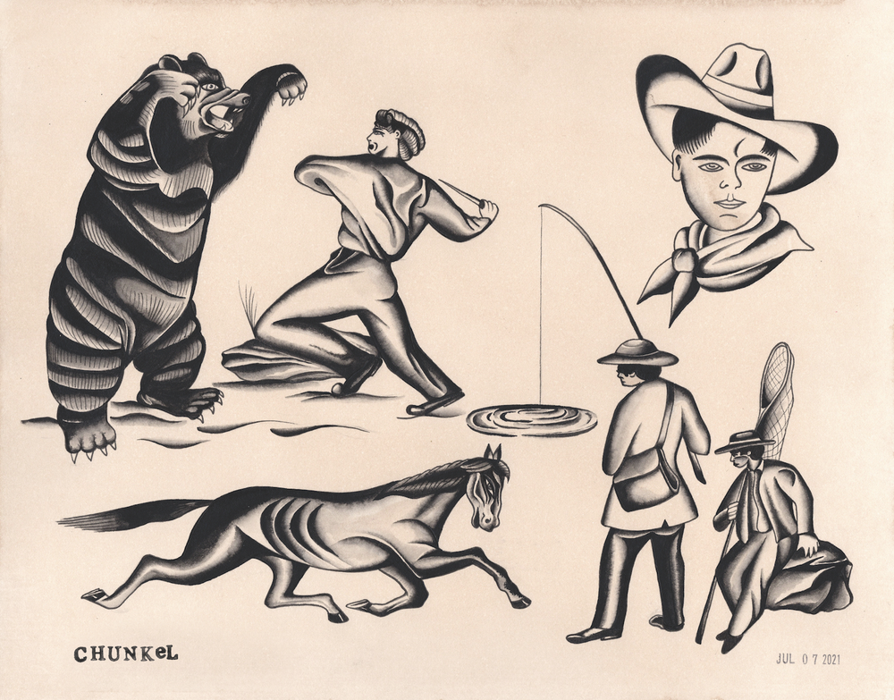 Image of Folk Flash Sheet (11x14 Print)