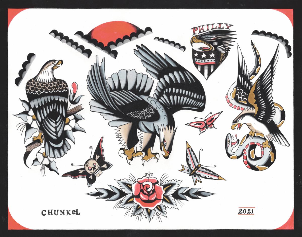 Image of Eagle Flash Sheet (11x14 Print)