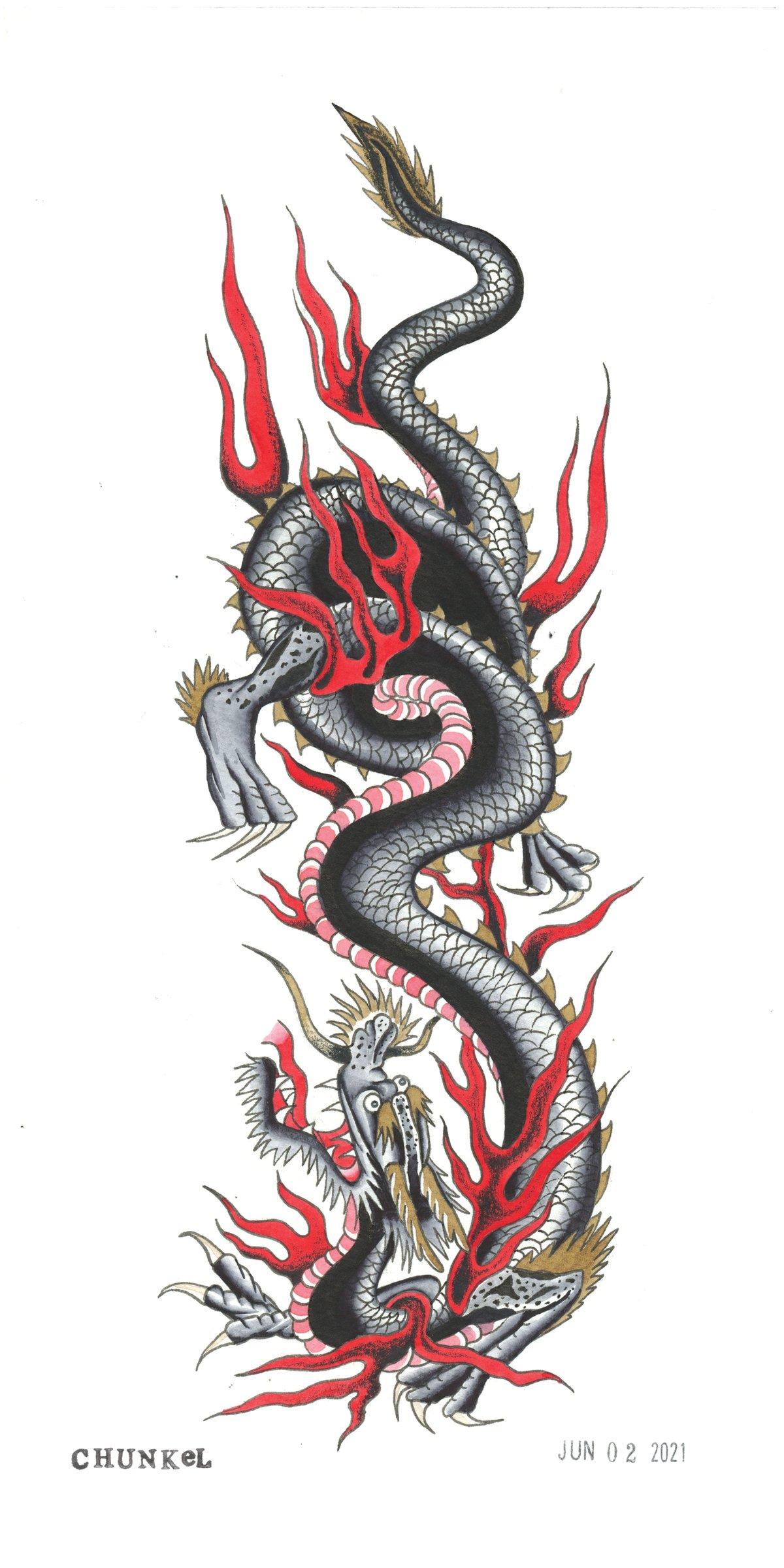 Image of Dragon (6x12 Print)