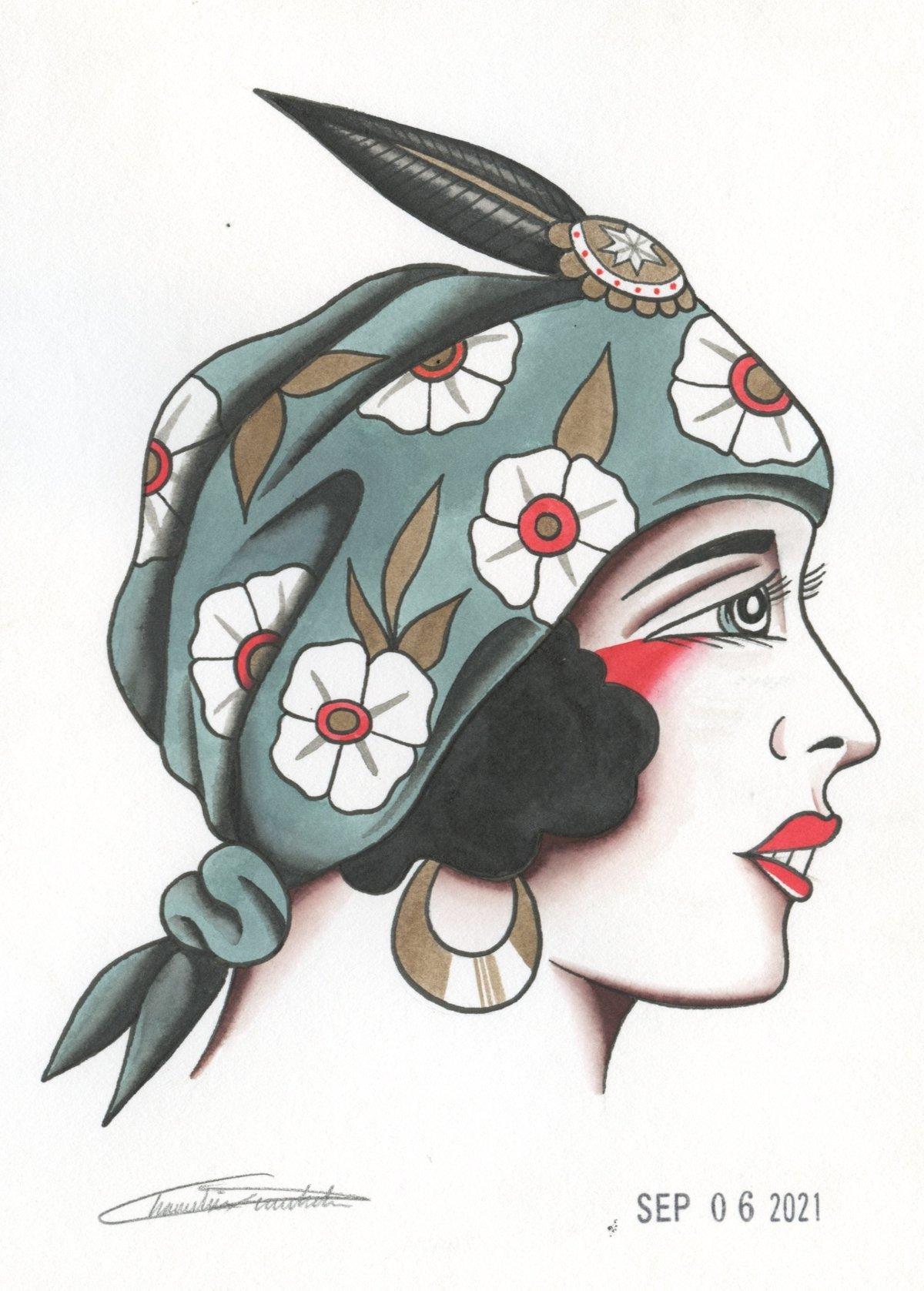 Image of Lady Head (Original)