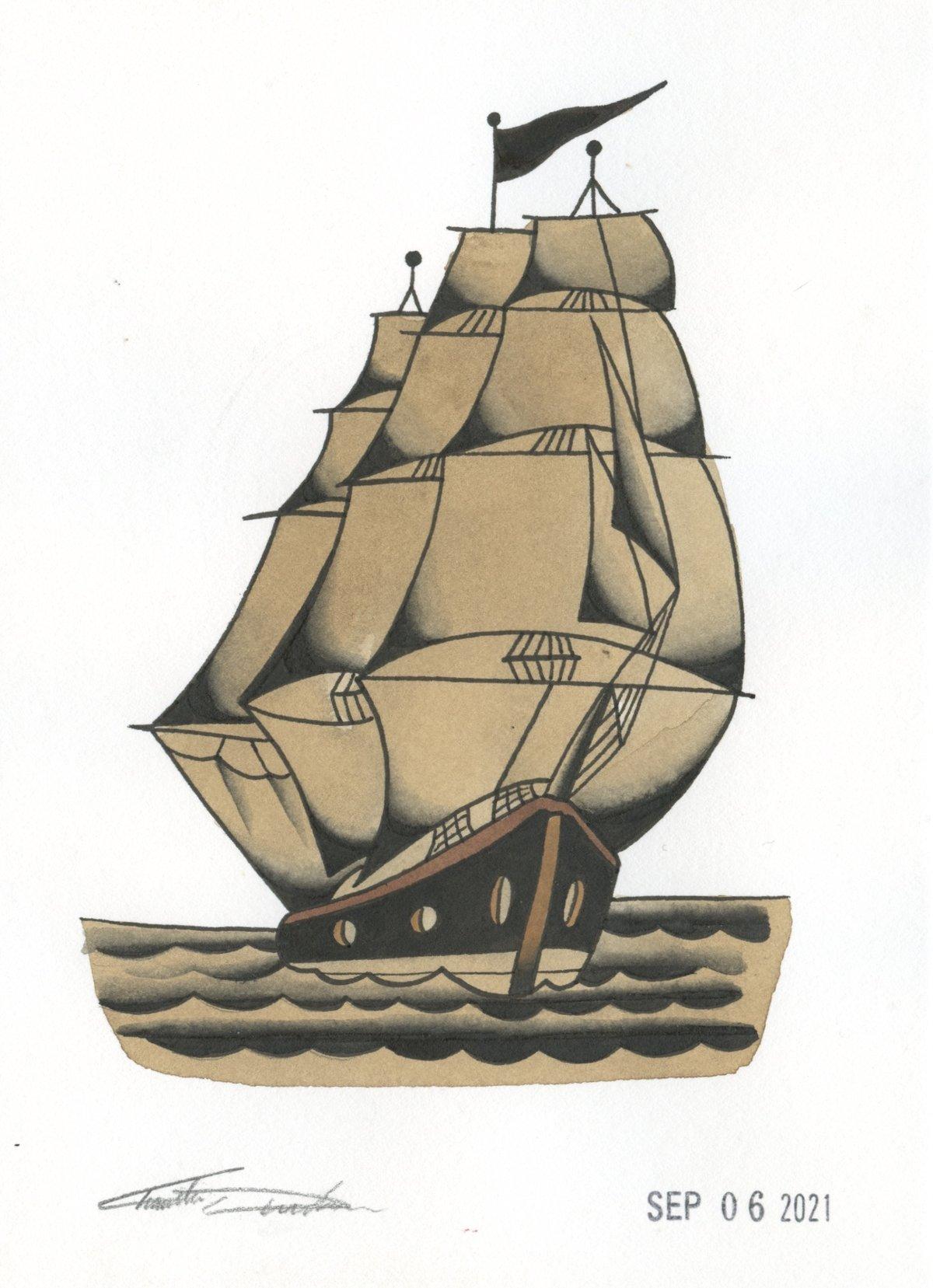 Image of Clipper Ship (Original)
