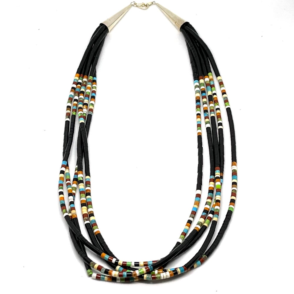Image of Santo Domingo Mixed Heishi Layered Necklace (Star Dust)