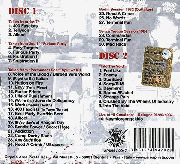 "CHEETAH CHROME MOTHERFUCKERS ""The Furious Era 1979-1987"" 2CD discography"