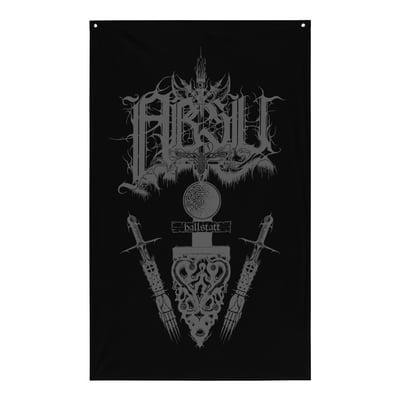 Image of ABSU - HALLSTATT FLAG (GREY PRINT)