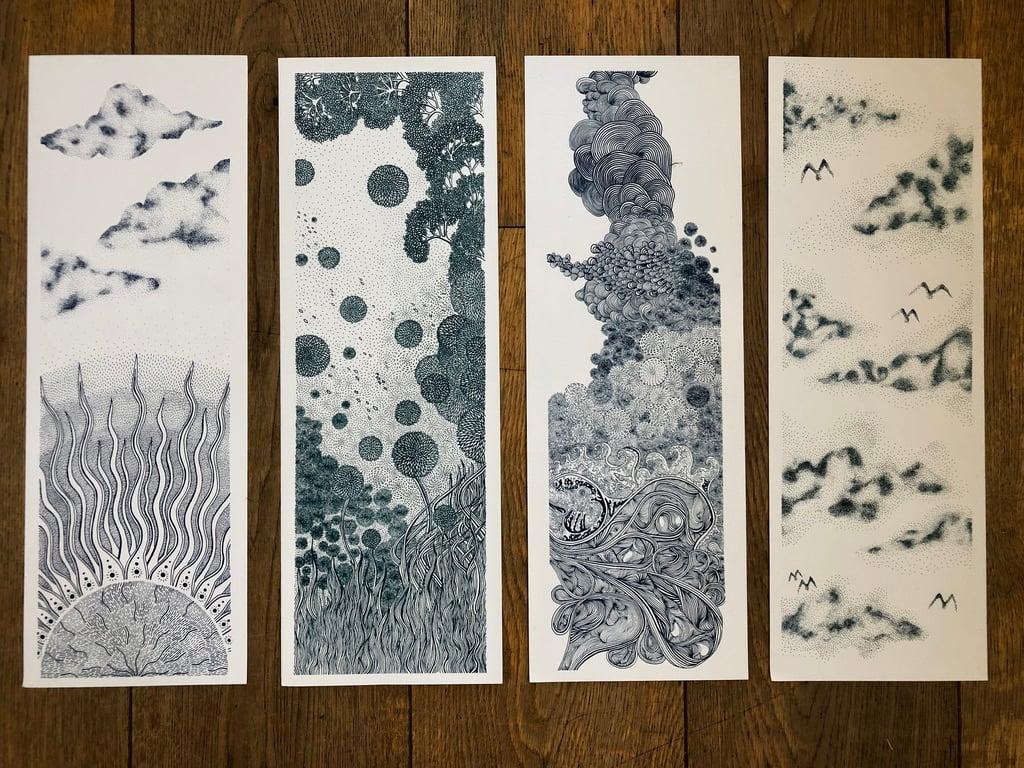 Element Prints- Set of Four
