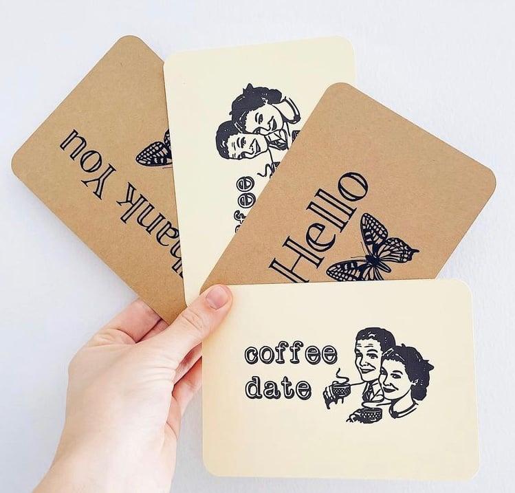 Image of coffee date postcard