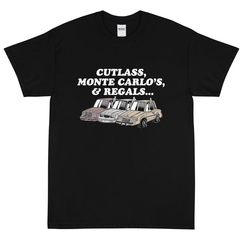 Image of CUTLASS, MONTE CARLO'S, & REGALS TEE