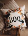 Boo Halloween Wreath Pillow