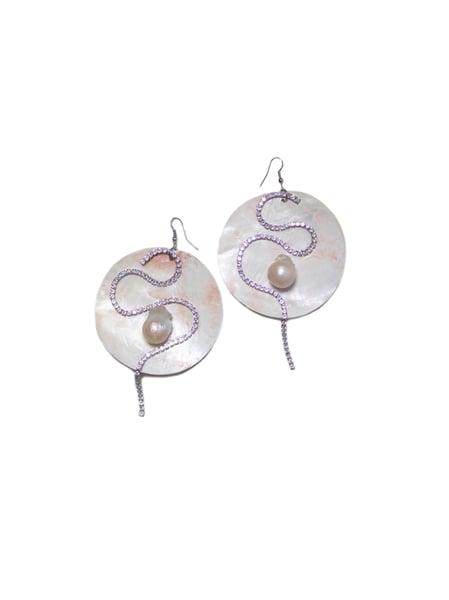 Image of Large Marimar Baroque Pearl Earrings