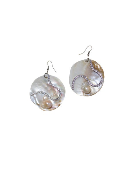 Image of Round Medium Marimar Baroque Pearl Earrings