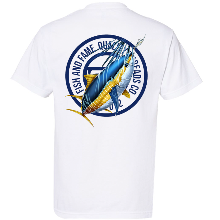 Image of Yellowfin Crest Tee (white)