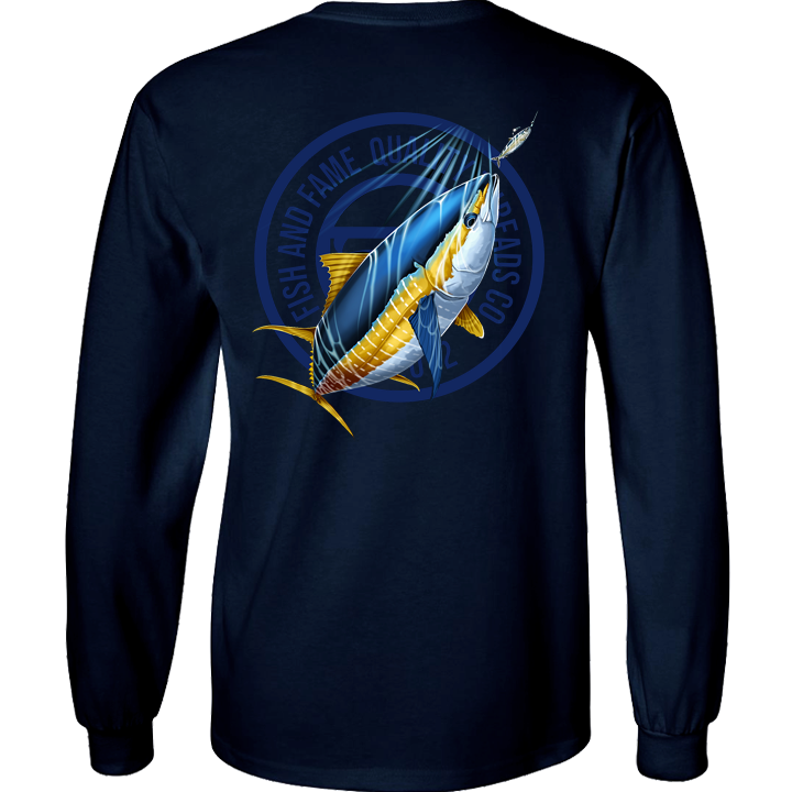 Image of Yellowfin Crest Long Sleeve (navy)