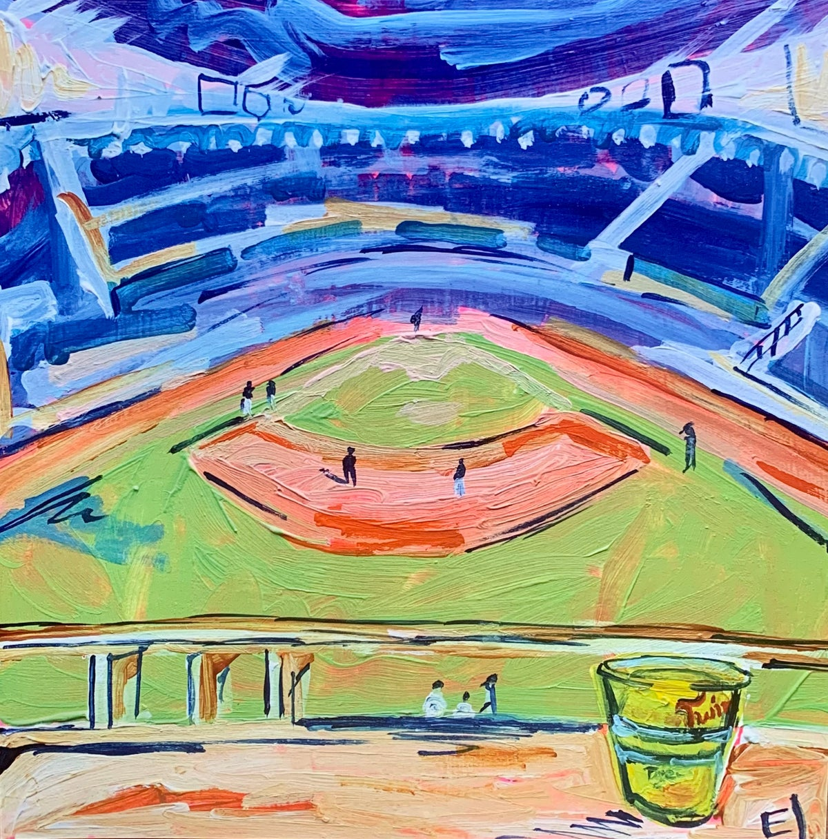 Image of Outfield Bar Print