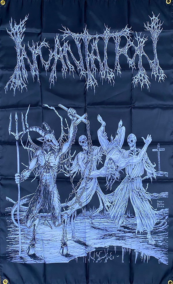 "Image of Incantation "" Blasphemous Cremation ""   Banner / Flag /  Tapestry /"