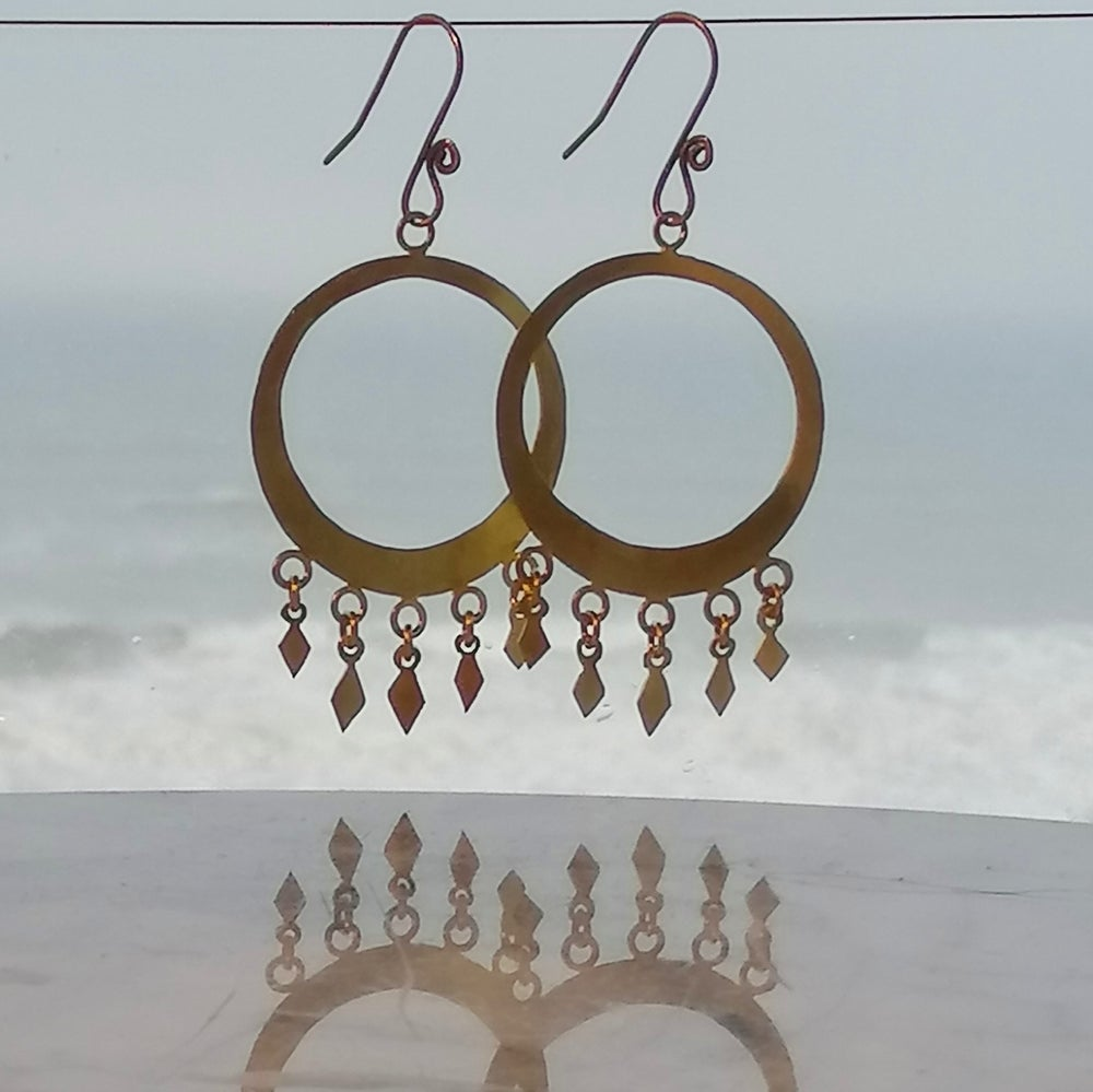 Image of Large diamond hoops
